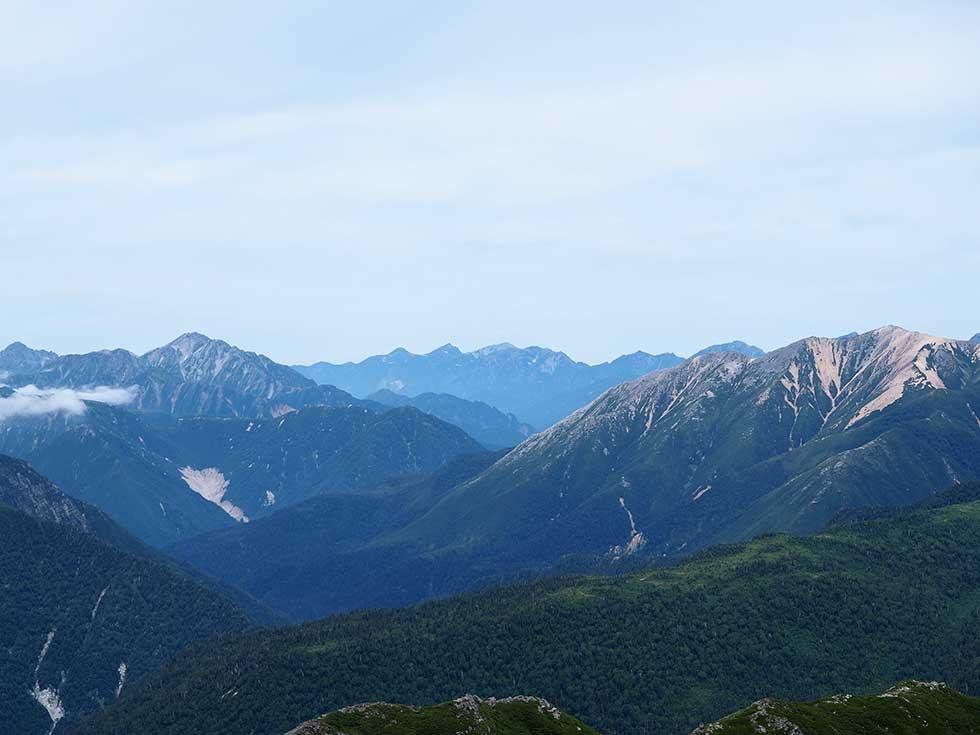 黒部五郎岳山頂から見る景色