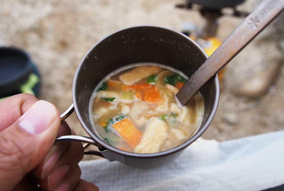 登山 アマノフーズ 味わうおみそ汁