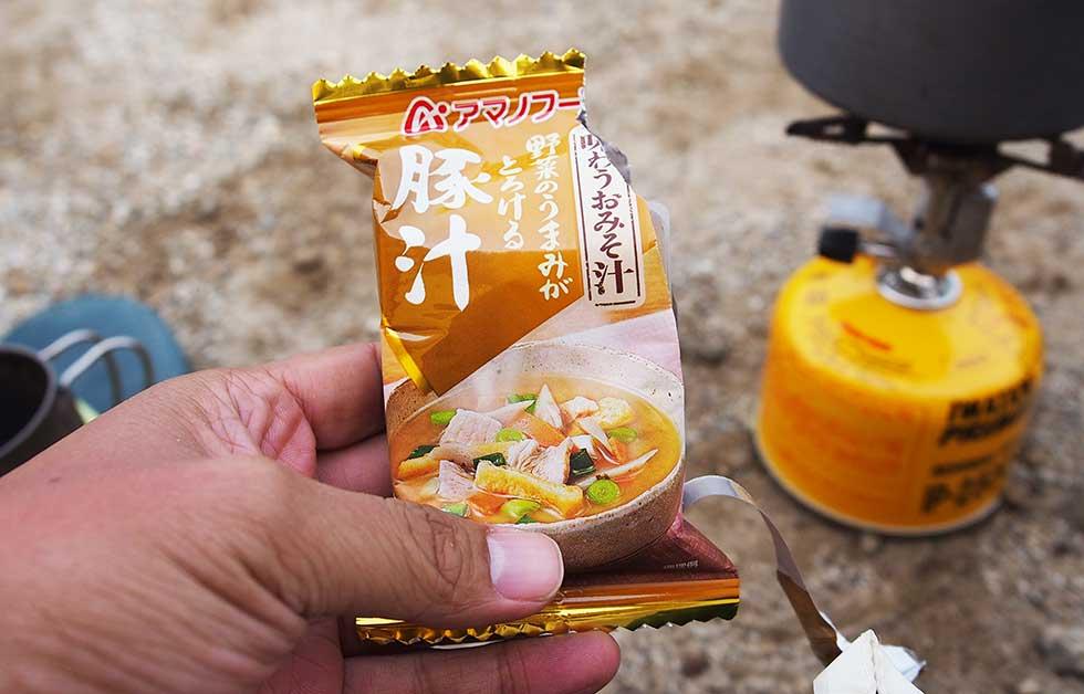 アマノフーズ 味わうおみそ汁 豚汁 登山