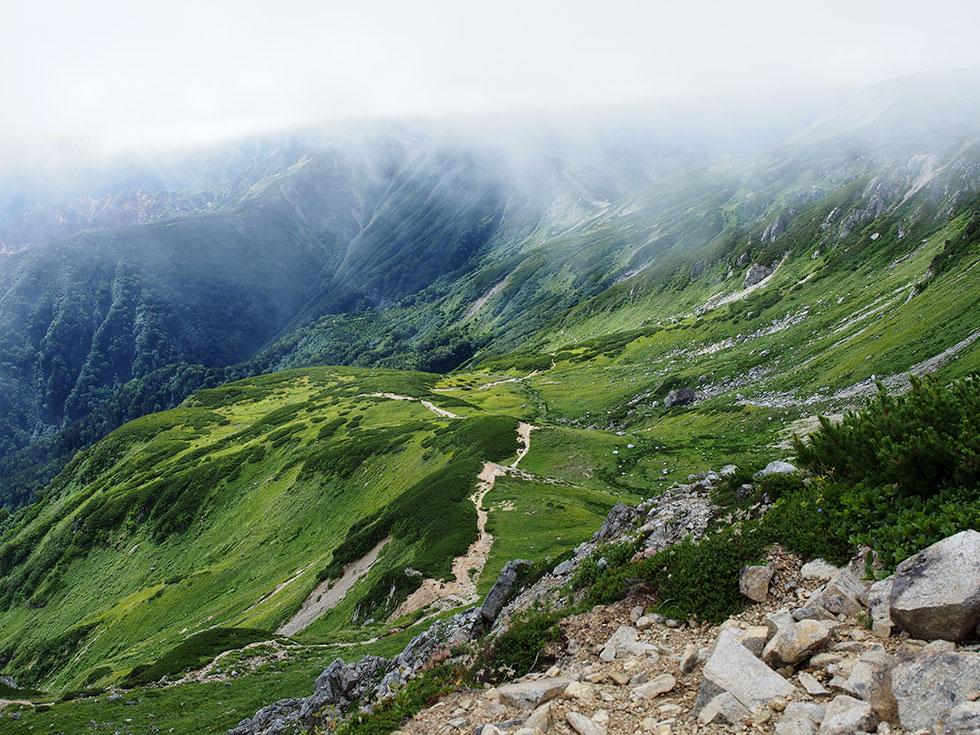 三俣蓮華岳山頂からの眺め