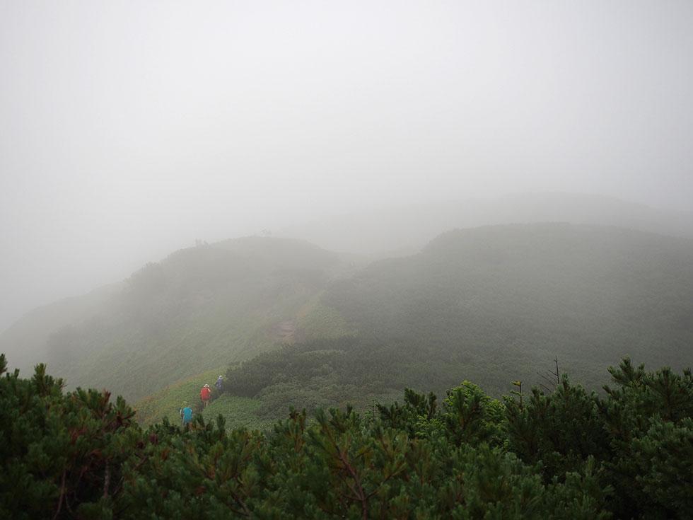 新穂高温泉へ下山する