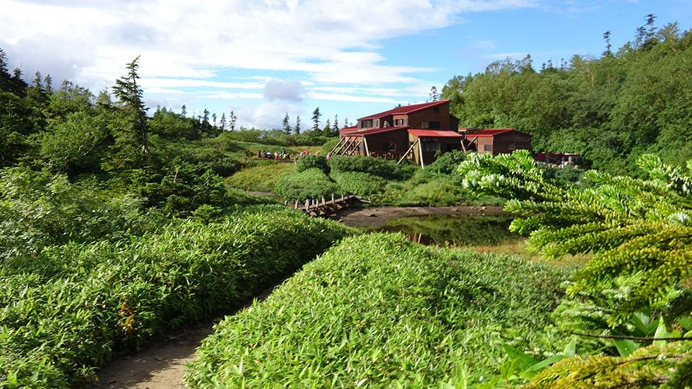 新穂高温泉へ下山する 鏡平山荘