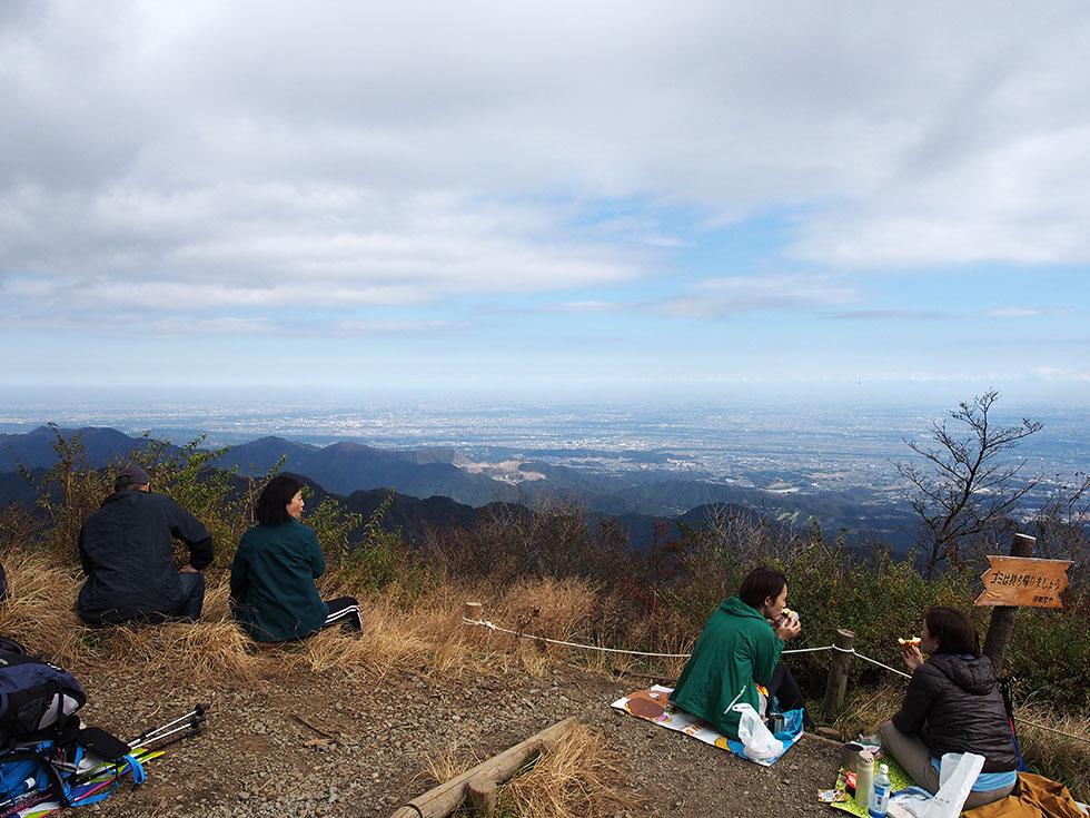 丹沢大山の山頂からの景色
