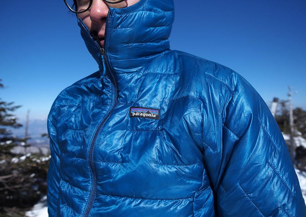 パタゴニアのマイクロ・パフ・フーディを登山で使う