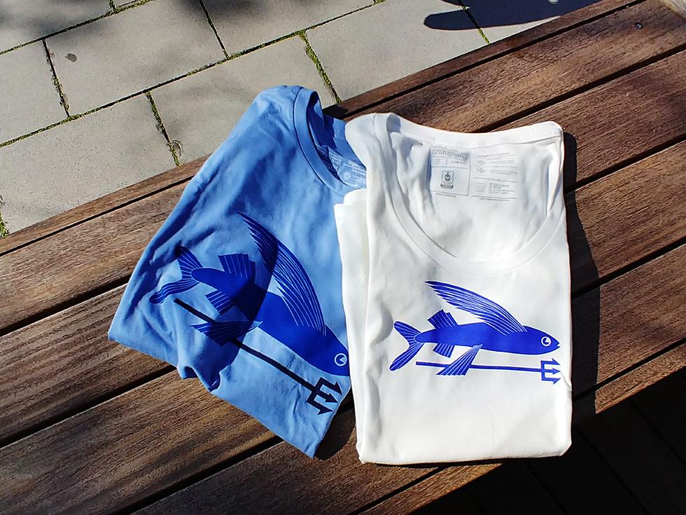 フライング・フィッシュ・Tシャツがお気に入り