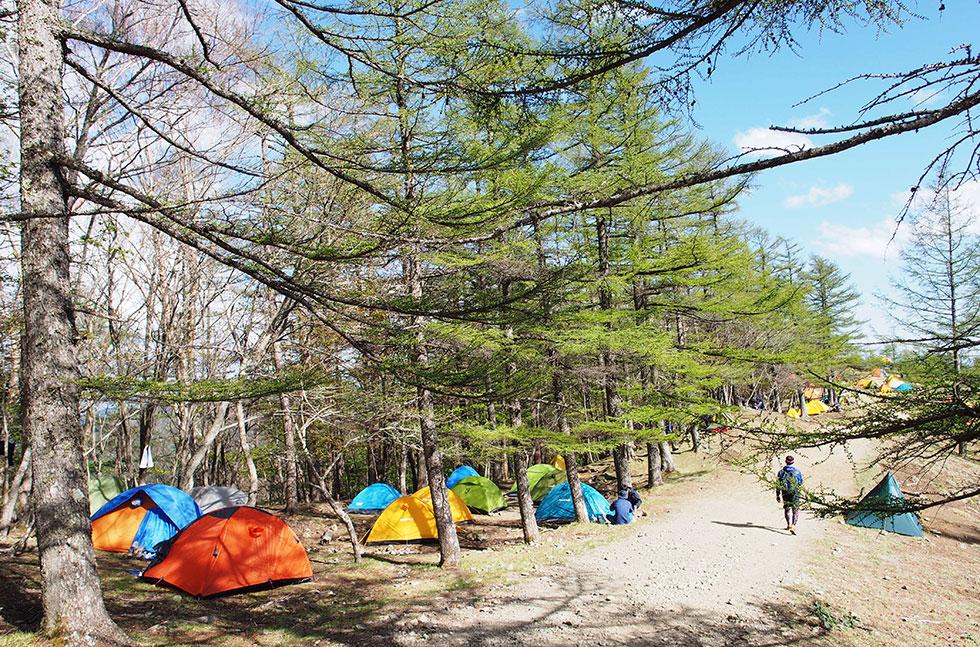 テントの設置場所について