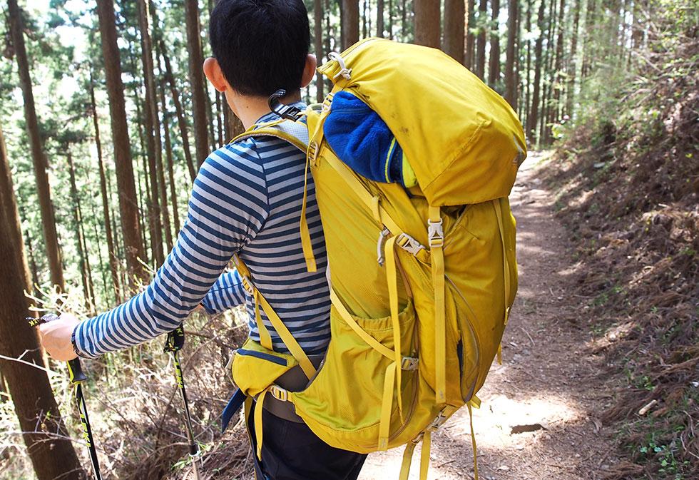 登山リュック(ザック)の調節方法