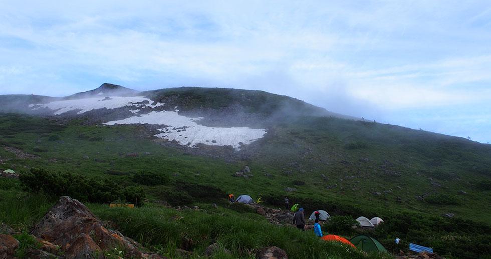 雲ノ平 登山のテント場