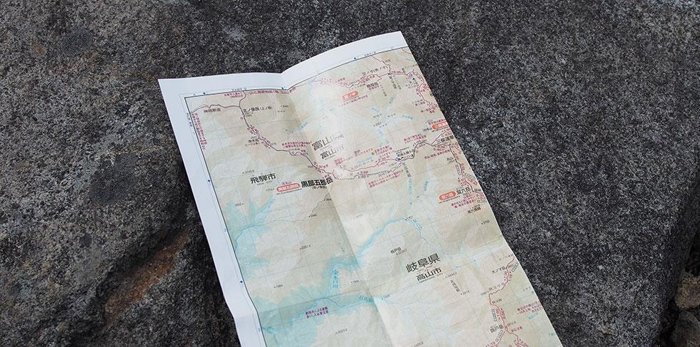 テント泊の地図・マップ