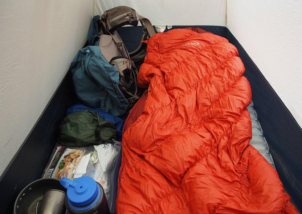 テント泊の装備