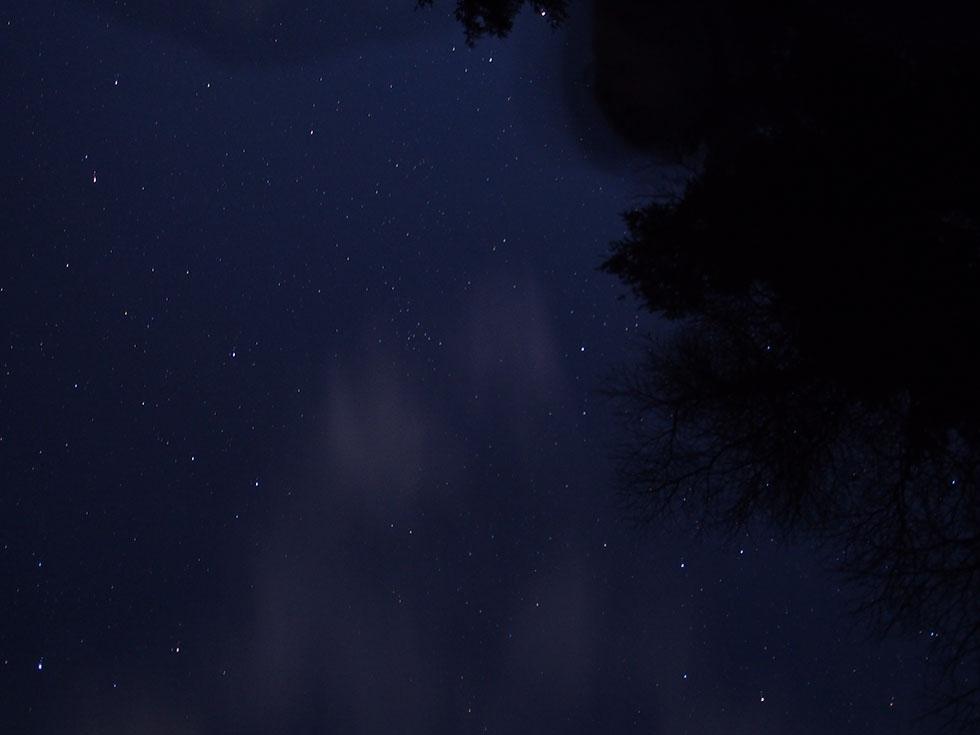 雲取山から見た夜空の星々