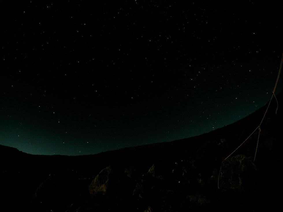 雲ノ平から見た夜空の星々