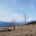 丹沢の高松山に登って雪富士を見てきた